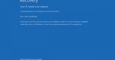 hướng dẫn fix 0xc000000e Không Boot Được Windows