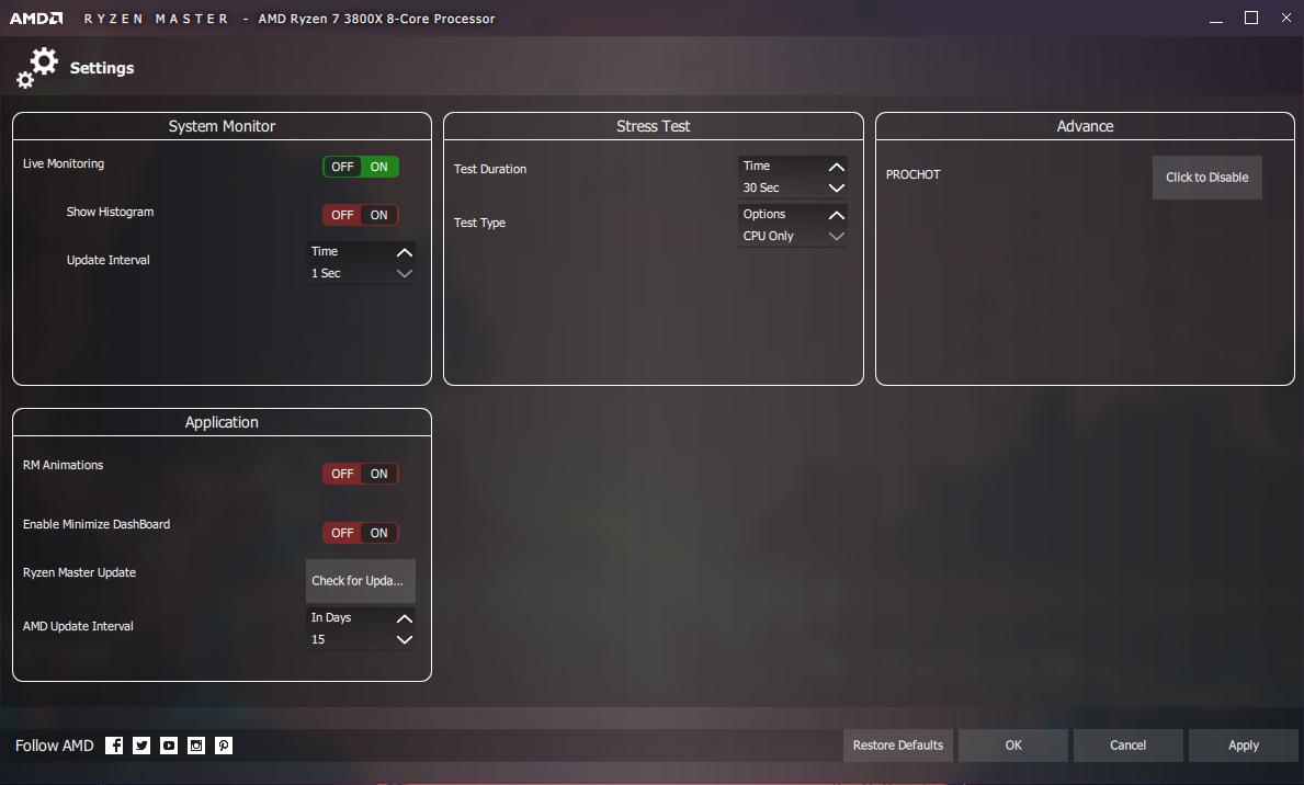 AMD Ryzen Master: Ép xung Ryzen