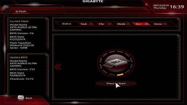 update bios gigabyte on windows