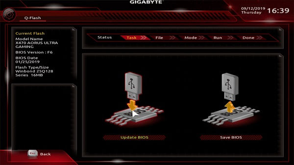 Hướng dẫn update bios cho mainboard gigabyte trong windows