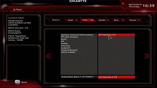 update bios gigabyte b75m-d3v