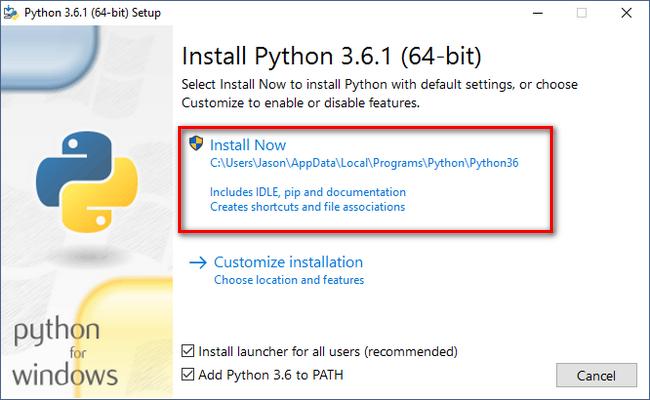 Cách cài đặt Python trên Windows 10 12