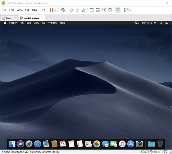 Cách cài đặt macOS Mojave 10.14 trên VMware cho Windows PC 10