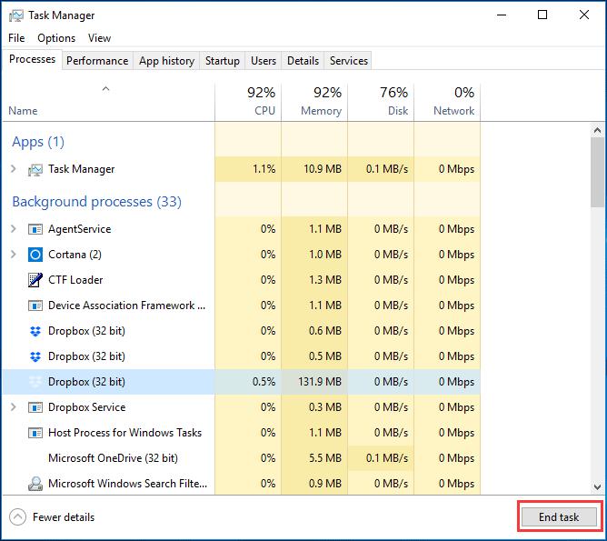 10 cách fix lỗi Dropbox không đồng bộ hóa với Windows 10 13
